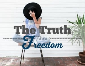 A lot of people seek freedom to do what makes them happy. But is that true freedom?