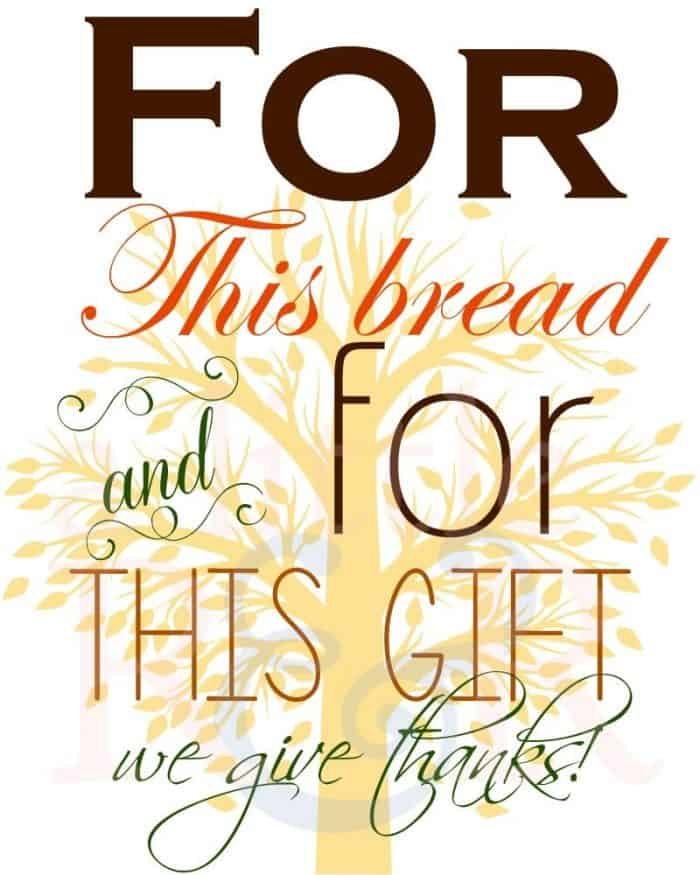 Download this lovely Thanksgiving printable and frame it as a reminder to you to live with a spirit of thanksgiving in everything.