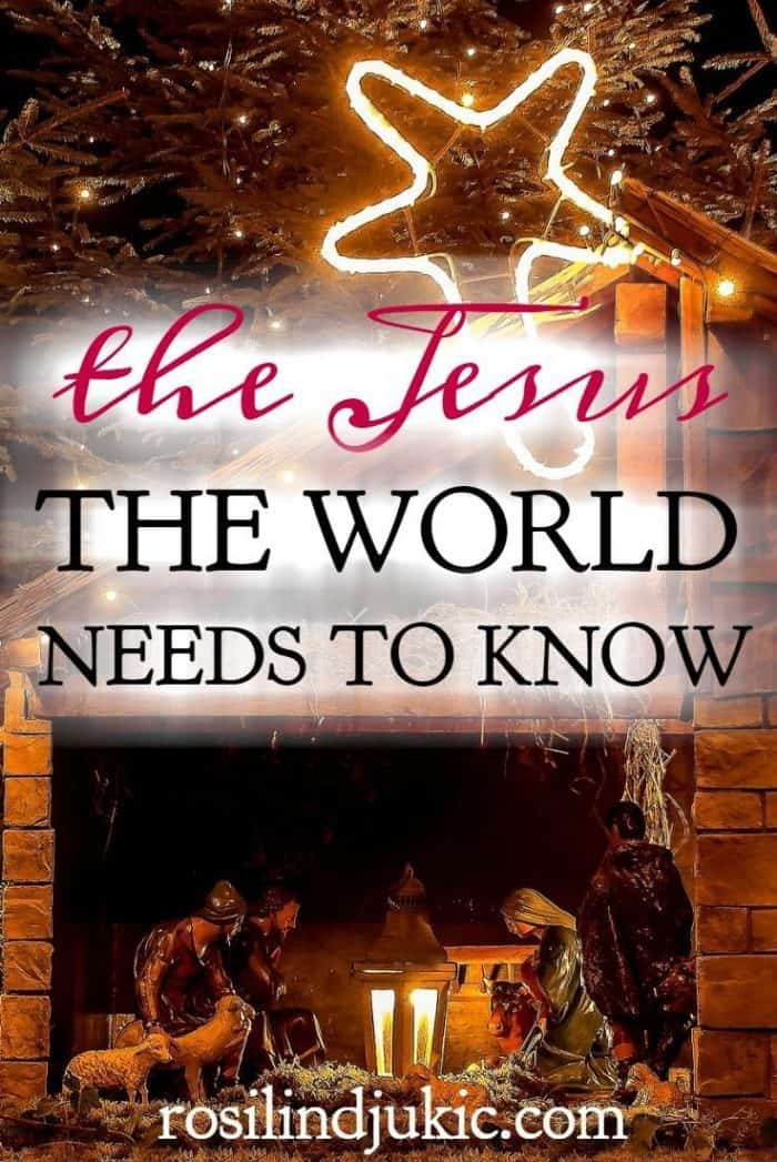 Are we presenting Jesus the way the world needs to see Him? The world needs to know Jesus and this is the Jesus the world needs to know.