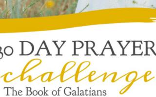 30 Day Prayer Challenge for Galatians