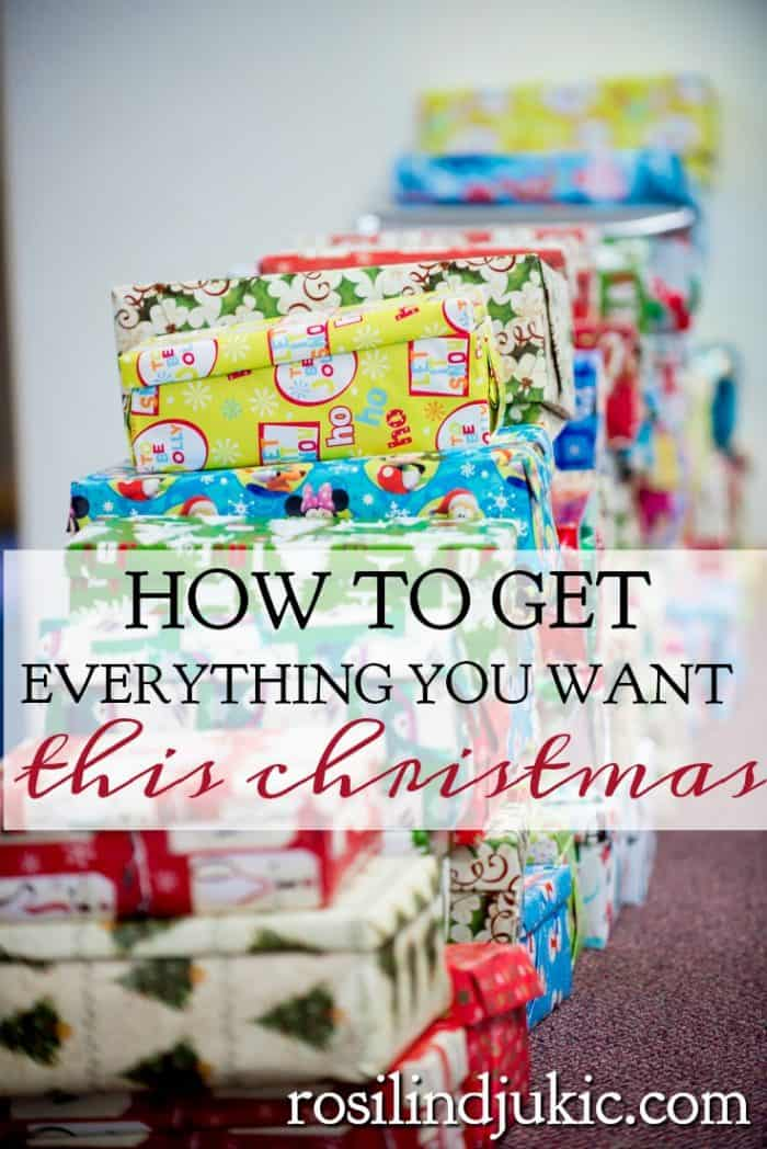 Do you often feel let down at Christmas? Perhaps it is a very depressing time of year for you. Here is how you can turn this season into a season of joy and get everything you want for Christmas.