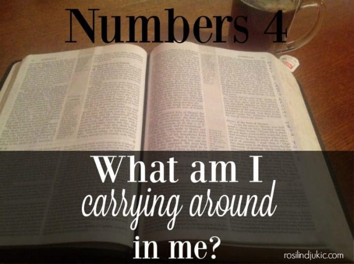 What am I carrying around in me?