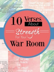Here are 10 verses on strenght for your war room