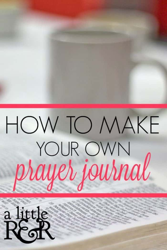Here is how you can make your own prayer journal. It's simple and easy and helps to keep you from getting distracted during prayer! #alittlerandr #prayer #prayerjournal #warroom #warroomjournal #journaling
