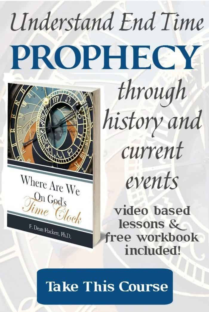 Discover end time prophecy through the lens of historic and current events with this 14-lesson course based 40+ years and thousands of hours of research.