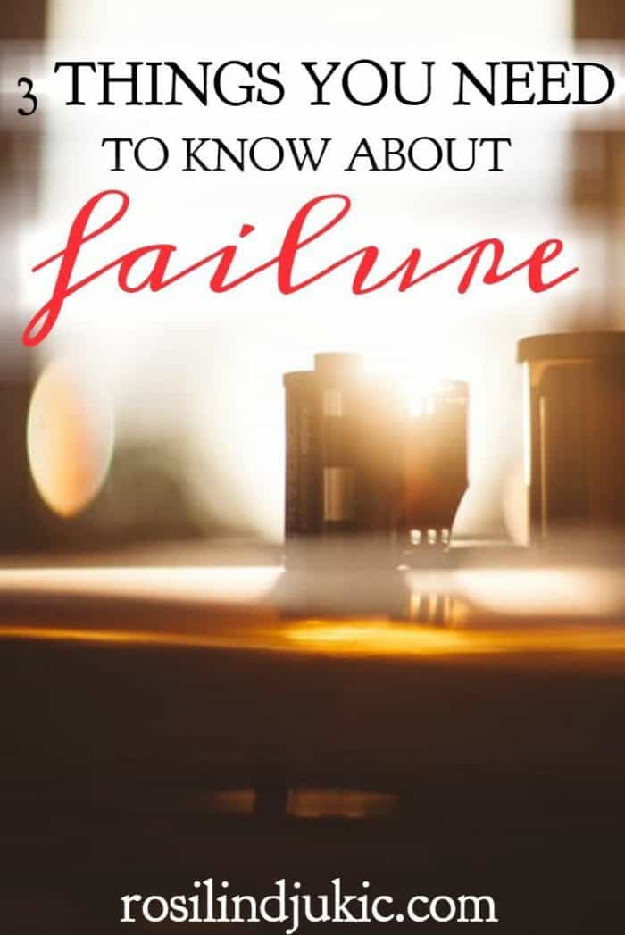 This is amazing! Now that I know this about failure, I am finally free to take risks and leave my past behind me.