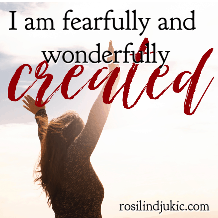 I am fearfully and wonderfully created. #alittlerandr #identityinChrist #whoIaminChrist #onlineWomensBiblestudy #onlineBiblestudy #Bible #JesusChrist