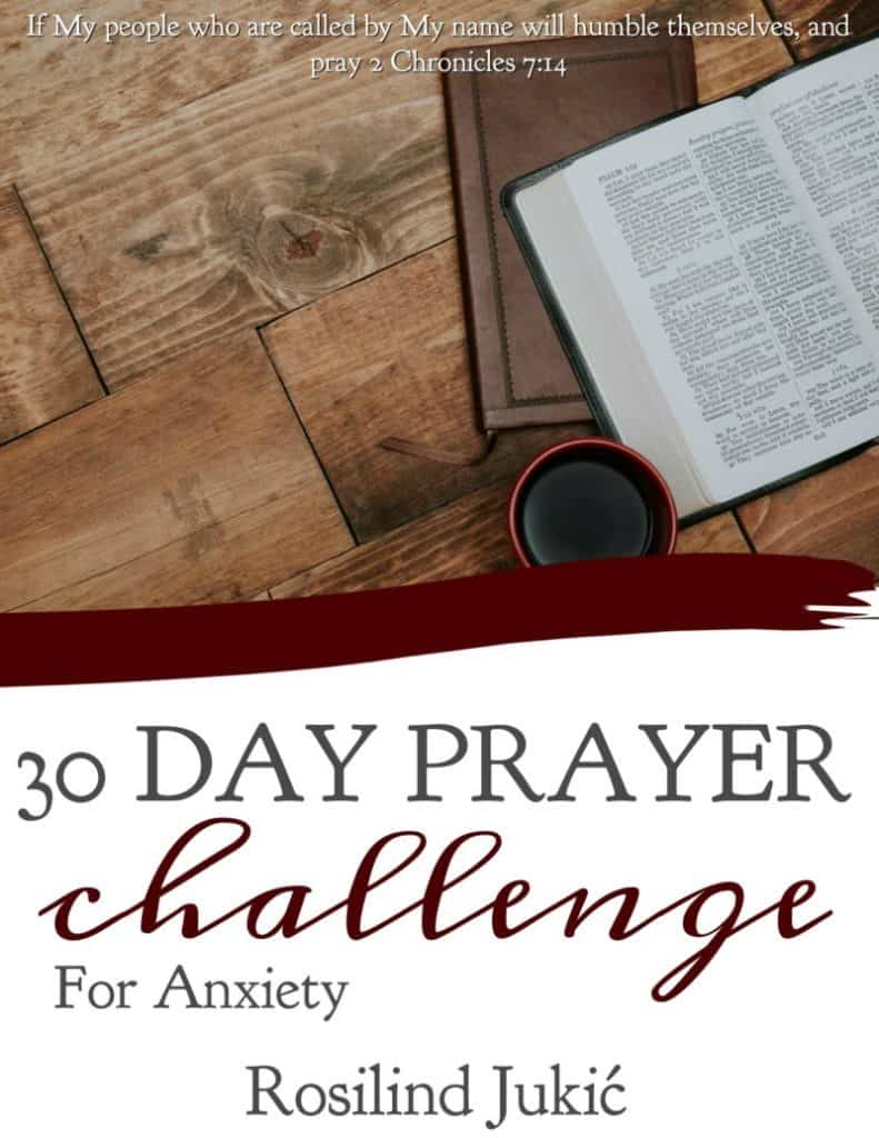 Join the 30 Day Prayer Challenge for Anxiety today! Click here to find out how you can download your copy today! A Little R & R | Rosilind Jukić | Christianity | Christian living | Christian blog | Christian faith | Bible Verse | Anxiety | Fear #fear #anxiety #prayer #warroom #warriorprincess #prayerjournaling #Scripture #Christian #Christianliving #spiritual #spiritualgrowth #Bible #God #jesus