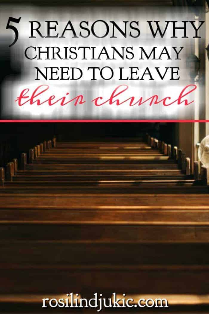Leaving your church is not a decision to be made lightly, but there are times when Christians find themselves in a place where they must make that decision.