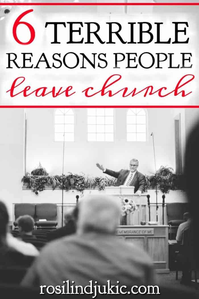 There are many reasons why people leave church, some of those reasons are valid, but sometimes those reasons are just plain terrible.