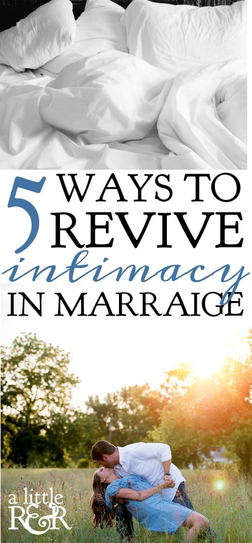 When life gets crazy, when school schedules and responsibilities wear you out, intimacy can get put on the back burner. Here's why we need to revive intimacy and how.