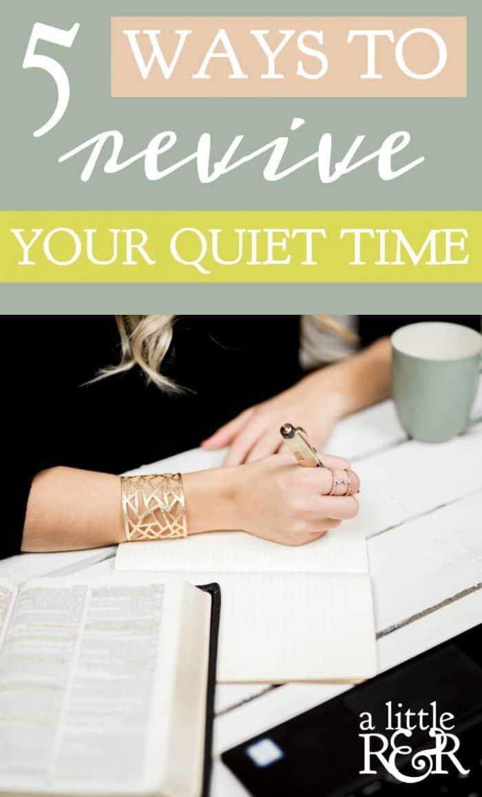 Does your quiet time need a revival? Sometimes one simple adjustment is all we need to have a vibrant quiet time. Here are 7 ways to bring revival to your daily time with God.