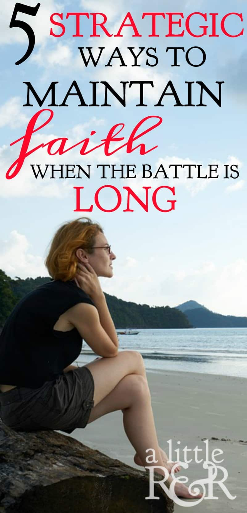 It is really hard to keep fighting when the battle is long and you grow tired and weary of fighting. Here are 5 things we learn from David's battle with Goliath that encourage us to maintain faith and joy in the battle. | A Little R & R | Rosilind Jukić | Christianity | Christian living | Christian blog | Christian faith | Spiritual Warfare | David and Goliath | Faith | #faith #Bible #Christianliving #Christian #Jesus #warroom #spiritualwarfare