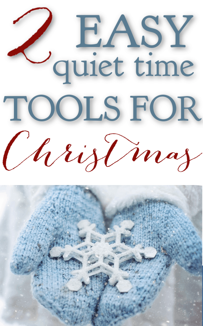 If you're a busy mom, you are looking for ways to keep your quiet time simple but meaningful and effective. Here are 2 easy quiet time tools for Christmas. #alittlerandr #Christmas #quiettime #warroom #Biblejournaling #Bibleverses