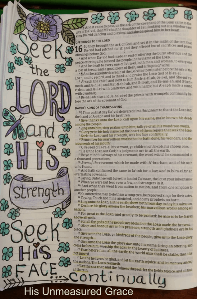 Would you like to get started with Bible journaling. You can get a jumpstart with these 6 simple, but lovely examples of art journaling in your Bible. #alittlerandr #Bibleartjournaling #biblejournaling #journaling #quiettimes #bible #Bibleverses